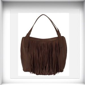 🔥Frye Ray Suede Leather Fringe Shoulder Bag 🤠